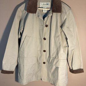 L.L. Bean vintage Barn Chore beige corduroy jacket